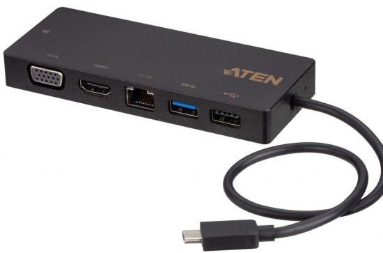 ATEN UH3236 USB-C Multiport Mini Dock with Power Pass-Through