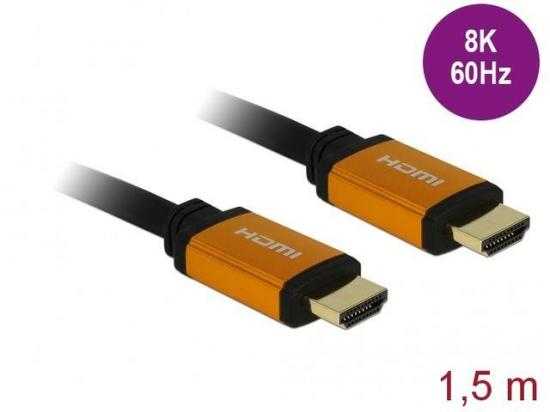 Delock Kabel HDMI M/M V2.1 1,5m 8K 60HZ Czarny