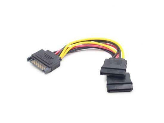 Gembird kabel SATA zasilający(M) -> SATA (F) x2 15 cm