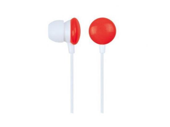Gembird słuchawki stereo douszne MP3, 3.5mm Jack, czerwone (90 cm)