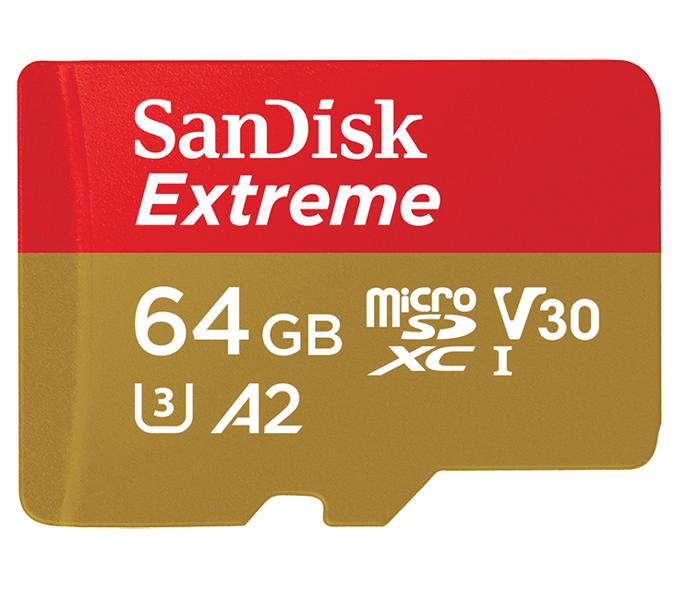 Karta microSDXC szybka SANDISK EXTREME 64GB 160/60