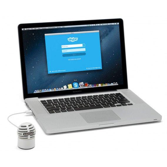 Pojemnościowy mikrofon SAMSON Meteorite USB Biały