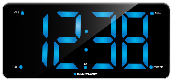 Radiobudzik Blaupunkt FM ładowanie USB duży LCD
