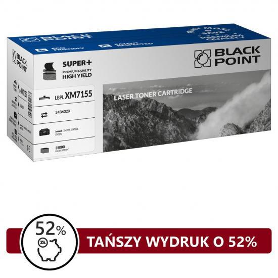 Toner Black Point LBPLXM7155   black   35 000 str.   Lexmark  XM7155,  XM7163