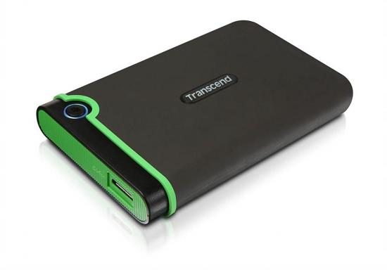 Transcend External HDD 500GB 25M3G 2.5'' USB3, Iron Gray, Slim